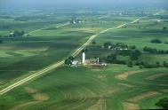 Ariel view of southwest Wisconsin farmland